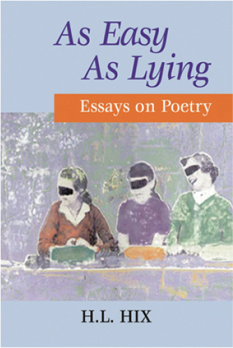 As Easy As Lying: Essays on Poetry